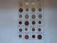 MIX OF 24 COINS FROM MIXED COUNTRIES/CONTINENTS [B927]GOOD EDUCATIONAL LOT