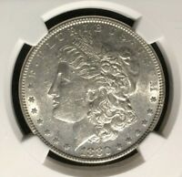1880 VAM 39A NGC AU55 MORGAN SILVER DOLLAR GENE L HENRY LEGACY COLLECTION