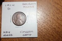 1914 D  KEY DATE  SELDOM FOUND   LINCOLN CENT