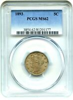1893 5C PCGS MINT STATE 62 - LIBERTY V NICKEL