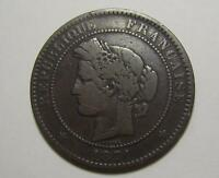 FRANCE 10 CENTIMES 1871 K  COIN FRENCH FRANCAISE LOW MINTAGE