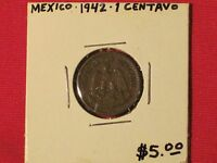 1942   CENTAVO COIN   MEXICO   EXCELLENT CONDITION   KM 415