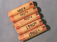 ROLLS OF 1940'S SMALL CENTS / PHILLY DENVER & SAN FRANCISCO   STAR ROLLS