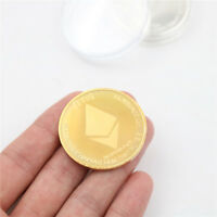 GOLD PLATED COMMEMORATIVE COLLECTIBLE IRON ETH ETHEREUM MINER COINS GIFT H LA