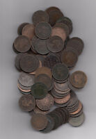 1859 1901 CANADA LARGE CENTS LOT OF 100