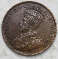 CANADA 1917 LARGE CENT NICE GRADE OLD DATE KGV