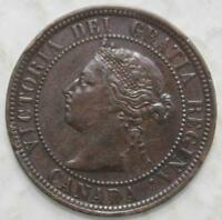 CANADA 1887 LARGE CENT NICE GRADE OLD DATE QUEEN VICTORIA