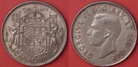 VERY FINE 1942 CANADA SILVER 50 CENTS