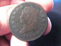 1810 CLASSIC HEAD LARGE CENT V.G. S-285  SHIPS FREE