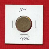 1861 INDIAN HEAD 1C PENNY 87542 $ HIGH GRADE COIN US MINT  KEY DATE ESTATE