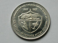 TERRACE BC CANADA 1927 1977 TRADE DOLLAR TOKEN WITH YELLOWHEAD HIGHWAY MAP