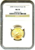 2008-W BALD EAGLE $5 NGC MS70 - MODERN COMMEMORATIVE GOLD