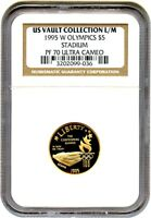 1995-W OLYMPIC STADIUM $5 NGC PR 70 UCAM EX: US VAULT COLLECTION L/M