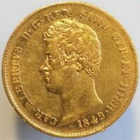 1849 GOLD 20 LIRE ITALY SARDINIA,  , BEAUTIFUL
