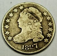 1827 UNITED STATES CAPPED BUST DIME - VG  GOOD CONDITION