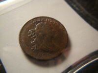 1800 F VF  DRAPED BUST HALF CENT  DECENT COIN GXG