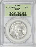 1936 LYNCHBURG SILVER COMMEMORATIVE HALF DOLLAR MINT STATE 65 OGH PCGS  20,013 MINTED