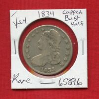 1834 CAPPED BUST SILVER HALF DOLLAR 65396  COIN US MINT  KEY DATE ESTATE