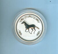 2002 HORSE AUSTRALIAN TWO DOLLARS 2 OZ. .999 SILVER   1 COIN TOTAL