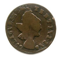 DOUBLE STRUCK WILLIAM III HALFPENNY   NEAT