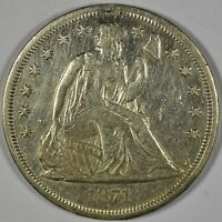 1871 COLLECTIBLE SILVER LIBERTY SEATED DOLLAR W/ MOTTO B461.38