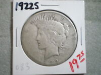 1922-S PEACE SILVER DOLLAR/ COOL COIN/ WORN