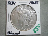 1934 PEACE SILVER DOLLAR/ TOP PICK/ CLEANED--SEMI KEY DATE--SHIPS FREE