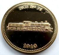 150 YEARS OF DUTCH RAILWAYS NCS NO 71 1910 LOCOMOTIVE UNC PROOF MEDAL 41MM R12.4
