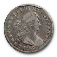 1796 H10C LIKERTY DRAPED BUST HALF DIME PCGS F 15 FINE TO  FINE TOUGH