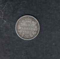 1884 CANADA SILVER 10 CENTS