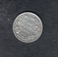 1890H CANADA SILVER 25 CENTS