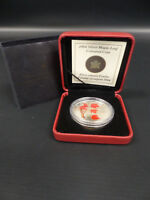 2004 CANADA FINE SILVER 10Z COLOURED MAPLE LEAF