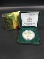 2003 CANADA FINE SILVER 10Z COLOURED MAPLE LEAF