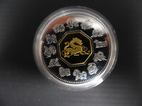 2000 CANADA 15 DOLLARS STERLING SILVER LUNAR COIN DRAGON