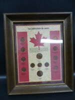 1900'S CANADA PENNY FRAMED COIN COLLECTION