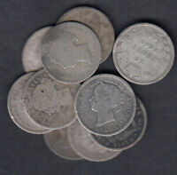 1858 1901 CANADA 10 CENTS SILVER COIN LOT OF 10