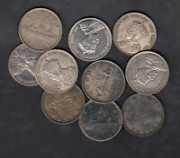1935 CANADA SILVER DOLLARS LOT OF 10