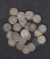 1911 36 CANADA 10 CENTS SILVER COIN LOT OF 25