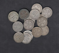 1903 47 CANADA NEWFOUNDLAND 10 CENTS SILVER COIN LOT OF 15