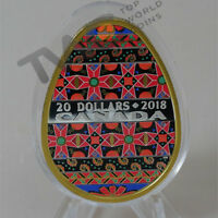 GOLDEN SPRING PYSANKA PROOF SILVER COIN 20$ CANADA 2018