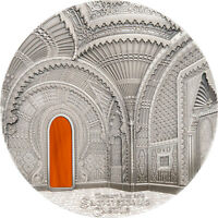 SAMMEZZANO TIFFANY ART 1 KILO ANTIQUE FINISH SILVER COIN 50$