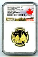 2017 CANADA 150TH ANNIVERSARY PROOF LOON NGC PF70 FIRST RELE