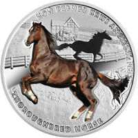 THOROUGHBRED HORSE PROOF SILVER COIN 1$ NIUE 2017