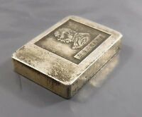 OLD CHINESE SILVER COLOURED INGOT / TRADING TOKEN NON MAGNET