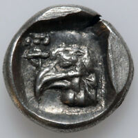 ANCIENT GREEK COIN SILVER HEMIOBOL IONIA EPHESOS BEE   EAGLE