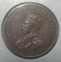 CANADA 1925 SMALL CENT KEY DATE GEORGE V CIRCULATED W/MINOR