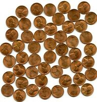 1945 S LINCOLN WHEAT CENT UNCIRCULATED ROLL 50