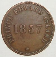 1857 PEI SELF GOVERNMENT AND FREE TRADE HALF PENNY TOKEN COI