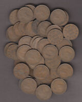 DEALER LOT   1932 ROLL CANADIAN SMALL CENTS  50 COINS    VG