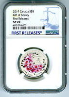 2019 $8 CANADA SILVER NGC SP70 GIFT OF BEAUTY CHERRY BLOSSOM